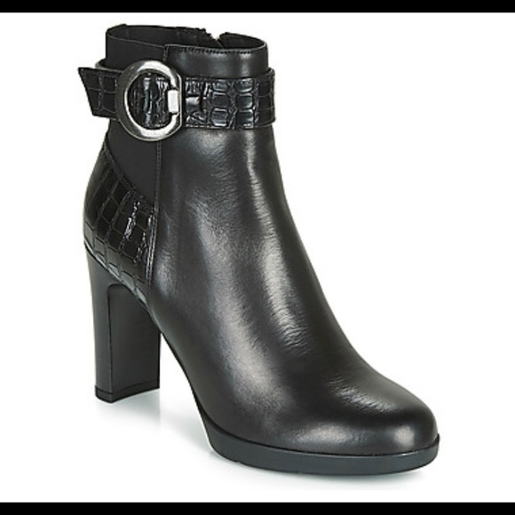 "GEOX ""Annya"" Ankle Boot with Croc Detail"